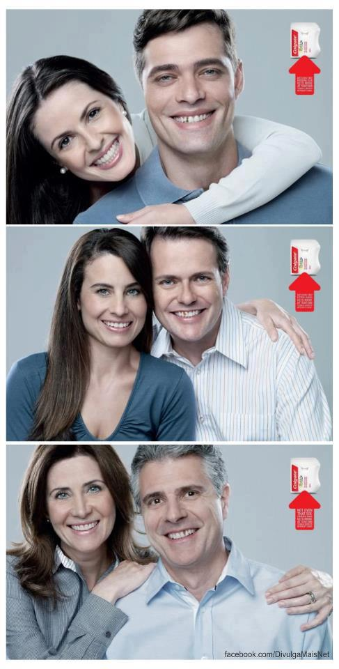 Colgate's campaign promoting their dental floss